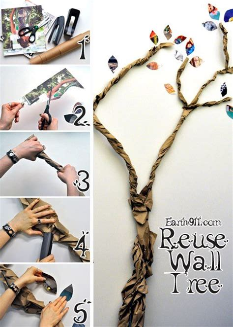 how to make brown tree make some trees out of recycled brown shipping paper