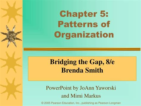 patterns of organization in reading powerpoint ppt chapter 5 patterns of organization powerpoint