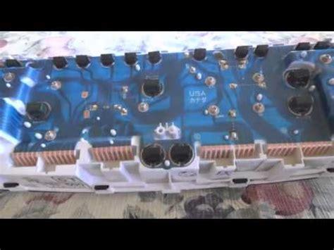 manual repair free 1993 toyota mr2 instrument cluster 1993 toyota mr2 speedometer fix diy doovi