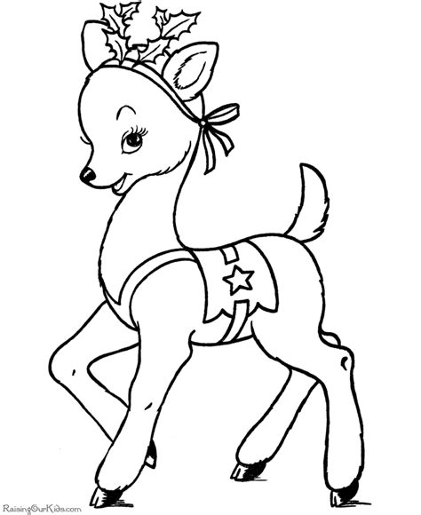 Reindeer Christmas Coloring Pages Free Printable Reindeer Coloring Pages