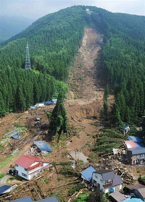 The Landslide by A Large Deadly Landslide In Japan The Landslide