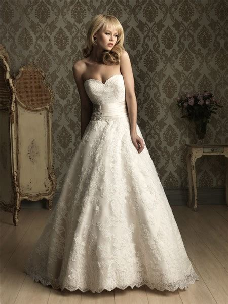 beading a wedding dress a line sweetheart lace wedding dress with beading ruched belt