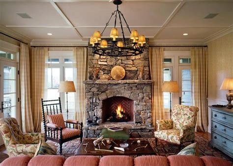cottage living cozy cottage living room with fireplace living
