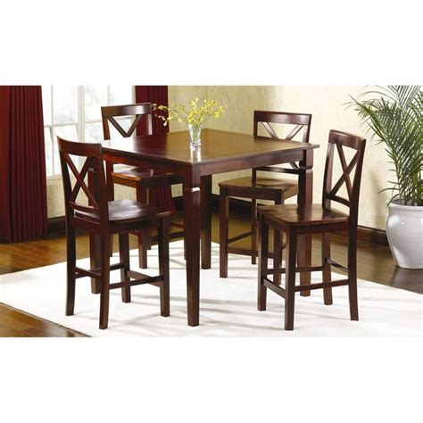 Counter Top Kitchen Table Sets 5 Pc Mahogany Dining Room Dinette Counter Top Table And Chairs Breakfast Set Barefood In The
