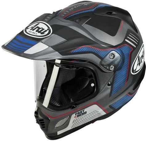 arai   vision gri mavi enduro motosiklet kaski