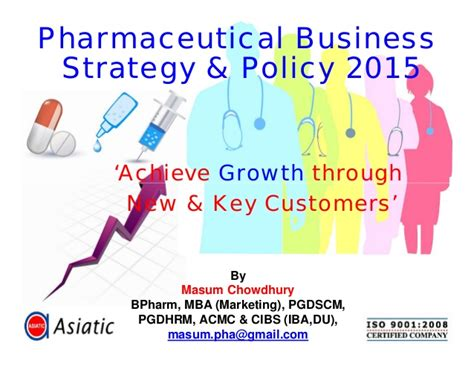 Mba Business Policy And Strategy by Pharmaceutical Business Strategy And Policy 2015