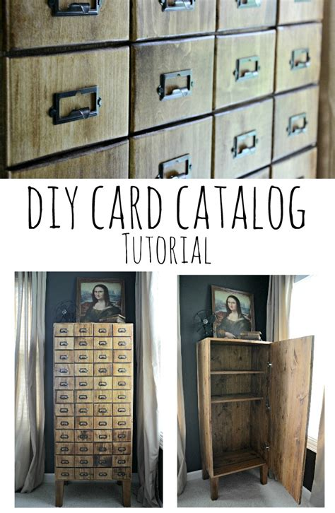 Diy Card Catalog Cabinet Tutorial Decor And The