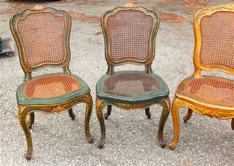 set of six venetian caned dining chairs at 1stdibs