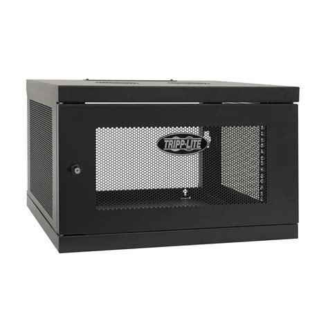 smartrack 6u wall mount rack enclosure cabinet tripp lite smartrack 6u low profile switch depth knock