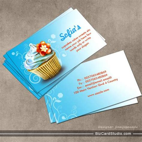 cupcakes business cards templates cupcake template card images
