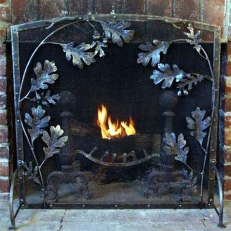 Best Fireplace Screen by Made Metal Arch Top Oak Leaf Fireplace Screen By