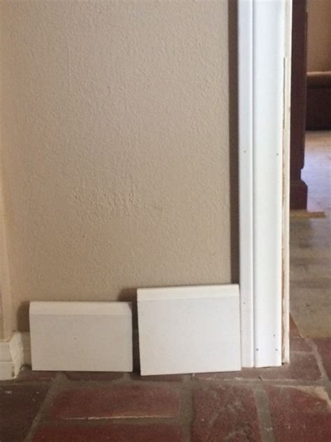 baseboards sizes what size baseboards with 2 5 quot casings