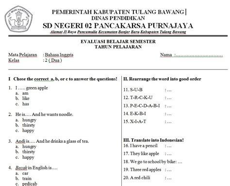 Buku Cermat Cerdas Tematik Buku Evaluasi Soal Tematik Sdmi Kelas Iv Gj 1 soal bahasa inggris sd kelas 2 soalujian net
