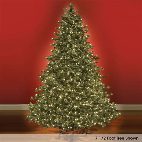 the world s best prelit noble fir 6 5 slim hammacher