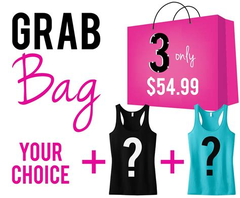 Sale Grab Bag 1 Box Isi 2 Pcs Packing Box grab bag quot 6 quot workout tank tops