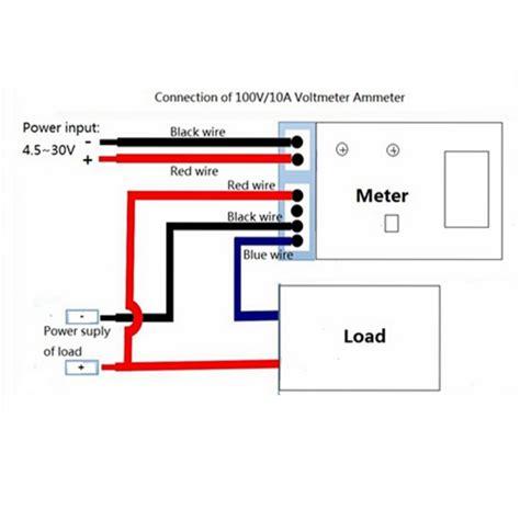 dual led blue digital dc 0 100v 10a voltmeter ammeter panel