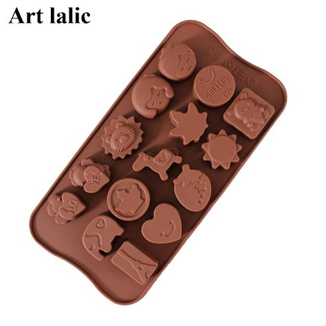 Cetakan Silicon New 15 Holes 15 silicone mold chocolate mold tower trojans pony child grid diy baking tools cp143 in