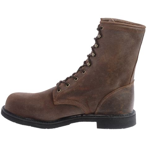 leather work boots for justin boots mountain leather work boots for