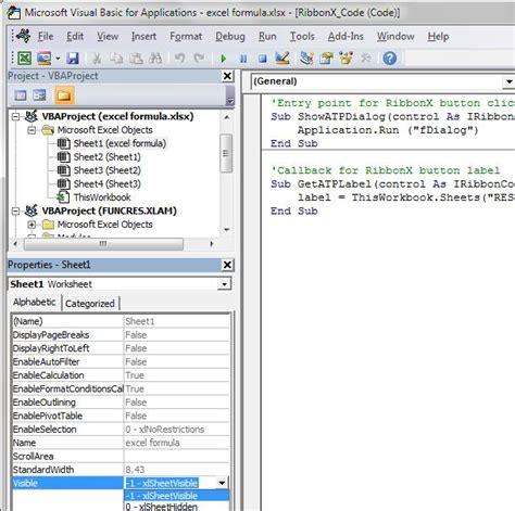 format sheet unhide adalah perintah untuk excel hide worksheet dan mencegah unhide kursus website