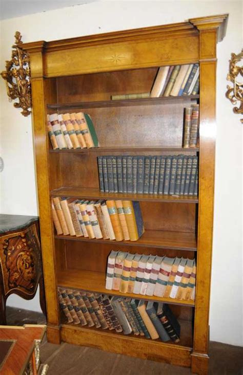 walnut regency open bookcase book case shelf