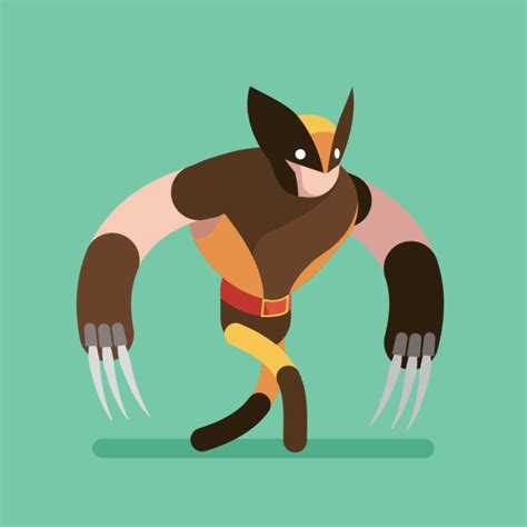 wolverine walk cycle on behance
