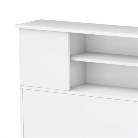 white headboard with shelves south shore breakwater full queen bookcase headboard in