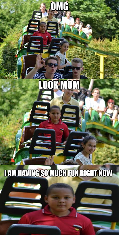 Roller Coaster Meme - took a picture of friends riding a rollercoaster by