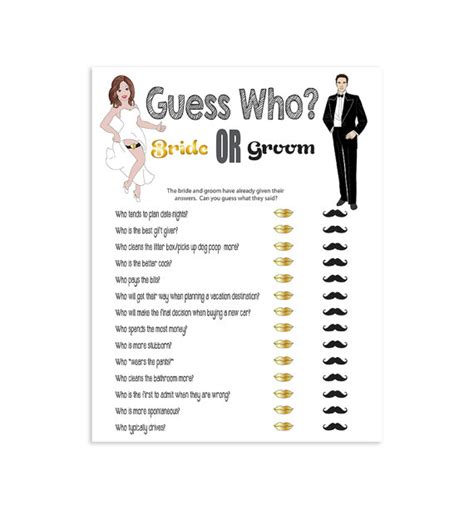 Guess Who Bridal Shower by Printable Bridal Shower Guess Who Couples