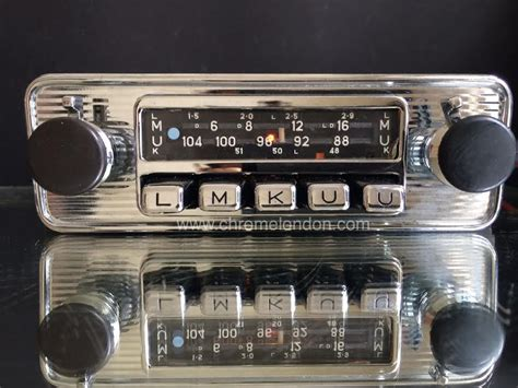 Home Gallery Grill Design by Chrome London Vintage Classic Car Radios For Sale