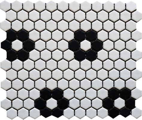 1 white matte hexagon floor tiles 1 inch hexagon pattern florette white matte finish