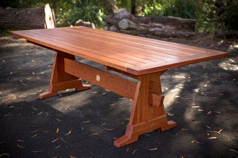 Outdoor Trestle Table by Outdoor Trestle Table Furniture Commission By