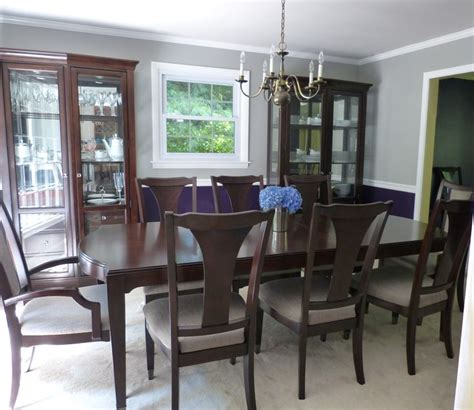 i my new royal purple and gray dining room behr paint sovereign sonic silver and