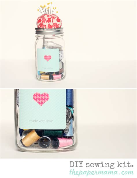 Pin By Chelsey Mace On Things I Like Pinterest - diy sewing kit in a jar the paper mama