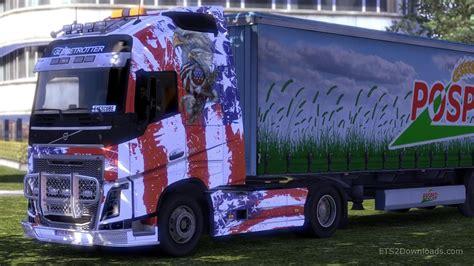 volvo usa usa skin for volvo fh 2012 euro truck simulator 2 mods