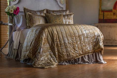 silver coverlet lili alessandra moderne straw velvet silver print quilted