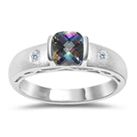 Yellow Topaz 5 89 Cts 0 04 cts 0 52 cts mystic topaz ring in 14k white