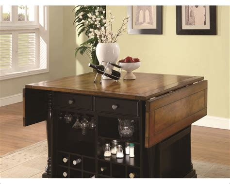 coaster co kitchen island table in two tone coaster co coaster two tone kitchen island kitchen carts co 102270 71