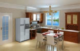 Interior Design Of Kitchen Room Kitchen And Dining Room Interior Layout 3d House