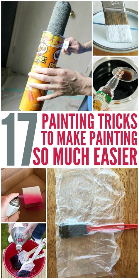 12 Easy Tricks To Make - 17 painting tricks that make painting easier