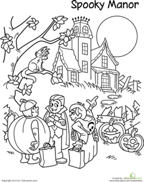halloween coloring pages trick or treat 12 best images of 2nd grade coloring math worksheets for