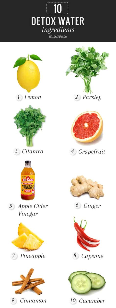 Detox Shoo Ingredients 10 must try detox water ingredients hello glow