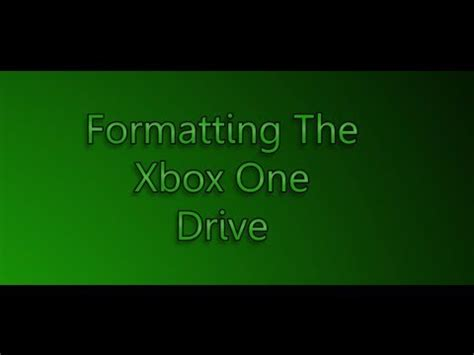 format hard disk for xbox one replace format existing xbox one hard drive using win