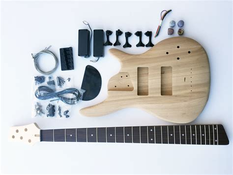 diy kits diy electric bass guitar kit 5 string ash bass thefretwire