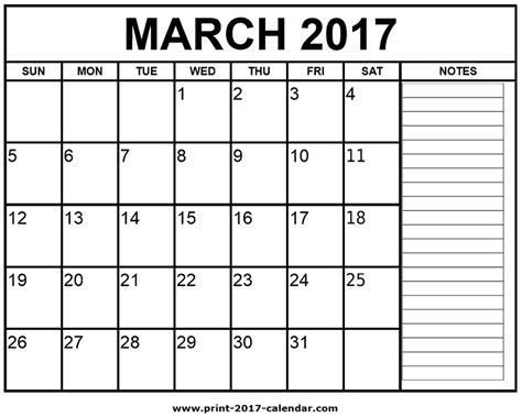 printable calendar march 2017 printable march 2017 calendar