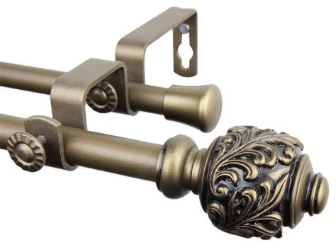 double decorative curtain rods rod desyne home decorative tilly double curtain rod