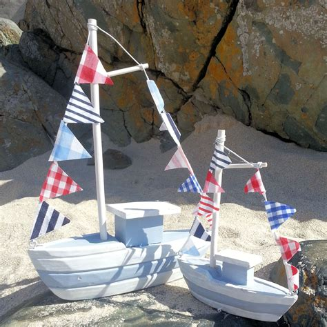 boat ornaments for bathroom nautical wooden boat ornament decoration coastal beach decor bathroom sml large ebay