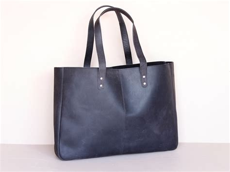 Tote Messenger Bag Black black leather shopper tote bag scaramanga leather