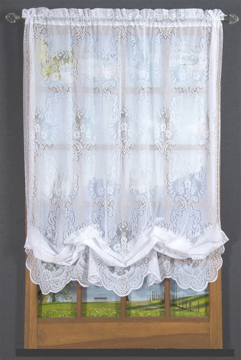 balloon lace curtains vanessa lace balloon shade thecurtainshop com