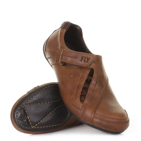 sofa shoes mens fly london sofa camel brown leather casual trainers