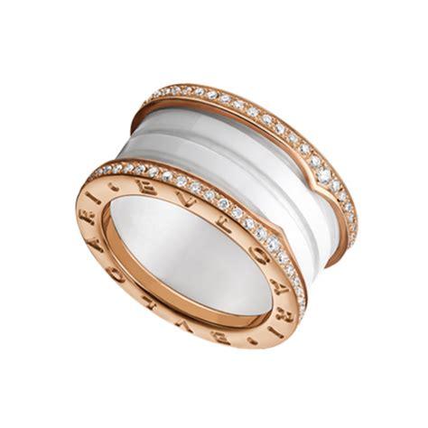 bvlgari bvlgari ring ik pink gold with pave diamonds sale uk bvlgari b zero1 ring replica pink gold 4 band white cerami